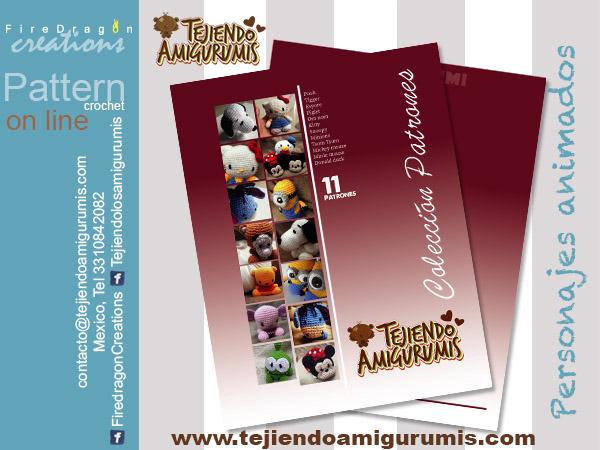 Book Colección Patrones Tejiendo Amigurumis de personajes animados